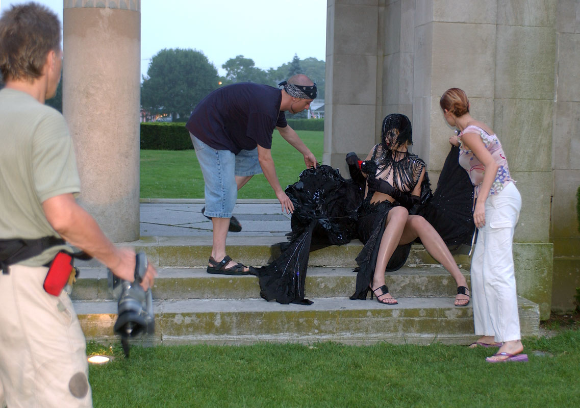 BTS of shooting Remi Couture - Catalog/Campaign.