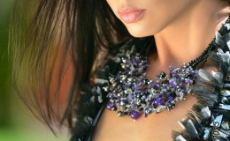 Maleku Jewelry on fashion model Elena K.